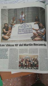 """El Martín Recuerda luce chicos de """"10"""":Reportaje de Ideal"""